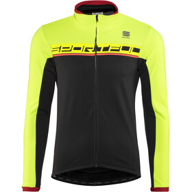Sportful Giro Softshell Jacket Men black/yellow fluo/red